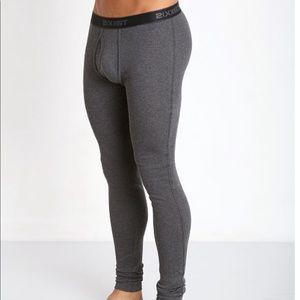 2xist Charcoal Long Underwear